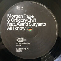 """Morgan Page & Gregory Shiff  –   All I Know  2003 UK 12""""  Bed46   NMint  UNPLYD"""