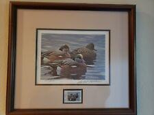 1990 Texas Duck Stamp & Print Robert Bateman Framed & Signed