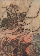 Siegfried Brunnhilde Wagner Ring Arthur Rackham 1911 Antique Tipped-In Print