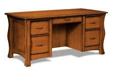 """Amish Arts and Crafts Computer File Desk Solid Wood Reno Office 67"""""""