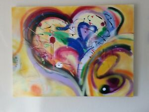 Abstract expressionism, mixed media.  One of a kind.