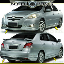 2007-2012 Yaris 4PC Front Rear Bumper Side Skirts Lip TRD Factory Style Body Kit