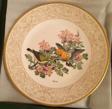 WOODLAND BIRDS OF AMERICA BY BOEHM PROTHONOTARY WARBLER WITH COLUMBINE PLATE