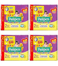 120 Pannolini PAMPERS PROGRESSI Pannolini Bambini taglia 2 Mini 3-6 kg NUOVI