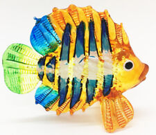 Miniature Bluegill Fish Hand Blown Glass Blowing Art Sea Animal Decor Handmade