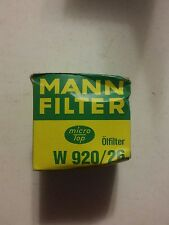 001 Vintage Mann Oil Filter W 920/26 Saab PKW 99 900  1979 NOS NIB