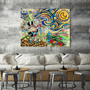 "Alec monopoly ""Starry Sky"" ,Handcraft Oil Painting on Canvas ,24x32inch"