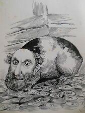 Original Christopher Davis Caricature Portrait (Possibly Lord Salisbury?) c1886