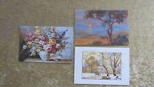 3 x Geburtstagskarte Glückwunschkarte Klappkarte florales Motiv 17,2 x 11,5 cm *
