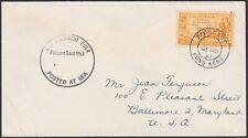 HONG KONG 1952 ship cover USA 3c cancelled PAQUEBOT / HONG KONG cds........54751