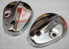 HONDA C50 C65 C70 EARLY C90 SUPER CUB PASSPORT FRONT FORK COVER CHROME PAIR NEW
