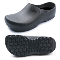 Mens Chef Cook Shoes Safety Loafers Anti Slip Kitchen Work Black Size US 7.5~11