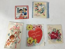 Antique Lot Of 5 Valentine Day Cards