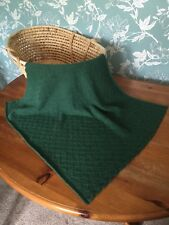 Beautiful and so soft baby blanket: 80 Merino 20 Cashmere. col. Green