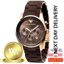 GENUINE  Emporio Armani AR5890 Sport Brown Rose Gold Men's Gent Watch 43mm Case