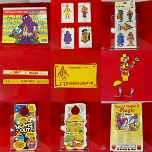 Lot of McDonald's McDonaldland Birthday Party Collection w/Booklets + More