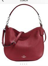 Coach Cherry Red Chelsea Pebble leather handbag