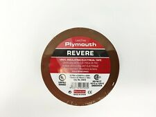 """Plymouth Rubber 3903 Brown 7 Mil Vinyl Electrical Tape 3/4"""" x 60' - 10 Rolls"""