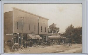 Marne Former Berlin Mi RC Carpenter Drugs & Grocery Store Many Horse & Carriages