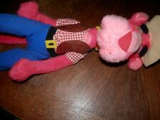 Vintage Pink Panther Bendable Plush Fair Toy, 22 in. High