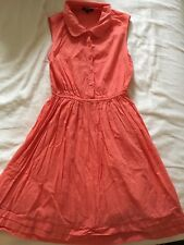 coral summer mini dress asos 34