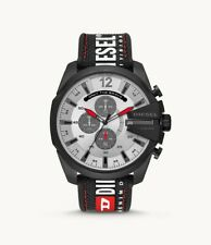 Diesel DZ4512 Men's Mega Chief Chronograph Black Nylon Watch + 2 year warranty