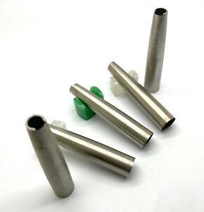 Lot of 5 VIntage Parker 45 Fountain Pen Steel Cap PARTS, USA (#AR4934)