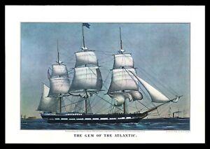 Currier & Ives 1965 Calendar Art Print - The Gem Of The Atlantic Clipper Ship