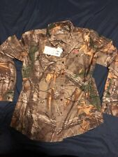 NWT Under Armour Performance Button Down Field Shirt CAMO Womens 1253209 L $80