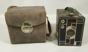 CAMERA ancien KODAK EASTMAN modele BEAU BROWNIE N°2 Doublet Lens 1930s Compact N