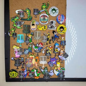 Assorted Great Quality Custom Disc Golf Enamel Bag Pins with fun designs