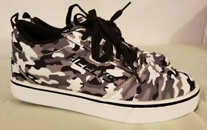 Heelys Pro 20 X2 Skate Shoes Size 4 Youth Black/White/Camo