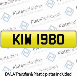 KIW 1980 KW 80 CHERISHED PRIVATE NUMBER PLATE DVLA REGISTRATION