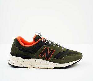 New NEW BALANCE Mens Size 6.5 997H Cordura Olive Green / Orange Sneakers RARE
