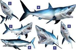 Mako Shark Beautiful Fish Decal for Your Boat, Vehicle, Etc. Many Sizes & Styles