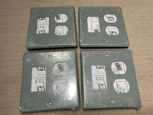 4 WIREMOLD G4047BS 2-GANG DUPLEX & SERIES II MINI ADAPTER, 4047 Serie Face-Plate