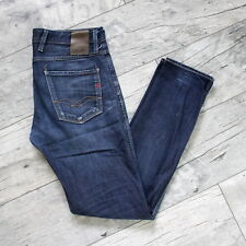 Replay Herren ANBASS W30 L32 Jeans Hose Denim Slim Fit Dunkel Blau A5476