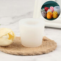 Silicone Soap Candle Mold Soap Making Mould DIY Handmade Molds Angle Tulips~9 YK