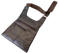Black Genuine Leather Men's Crossbody Thin Bag Travel Slim Handbag Purse SALE