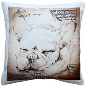 """French Bulldog Throw Pillow Gorgeous 17"""" x 17"""""""
