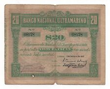TIMOR PORTUGAL PORTUGUESE 20 PATACAS 1910 PICK 4 LOOK SCANS