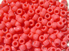 500 CORAL PINK 9x6mm Pony Beads for school kids crafts raver kandi jewelry