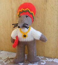 KNITTING PATTERN ONLY FOR RASTAMOUSE SOFT TOY