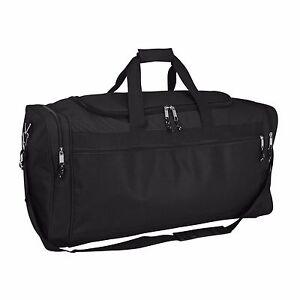 "DALIX 25"" Extra Large Travel Vacation Overnight Duffle Bag in Black"