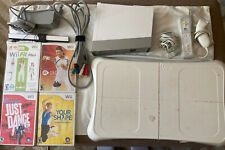 New listing Nintendo Wii Console Wii Fit Bundle with Balance Board & 4 Fitness Games TESTED