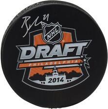 Punto de Tampa Bay Lightning Autografiada Brayden 2014 borrador de NHL Logo Hockey Puck