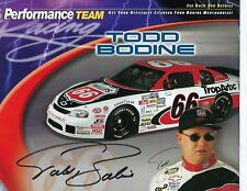 Todd Bodine Signed 1999 Phillips 66 Hero Card