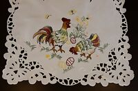 Easter Holiday Chicken Rooster Egg Embroidered Tablecloth Table Placemat Runner