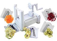New Veggie 5 Blade Spiralizer Best Vegetable Spiral Slicer Chopper Noodle Maker
