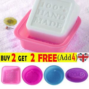 Soap Mold Silicone Mould Fondant Baking Tray Homemade DIY Decorating UK